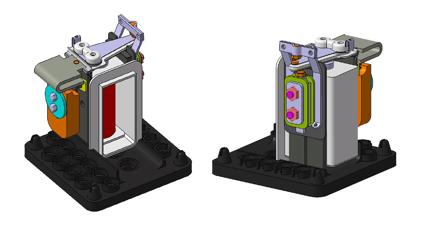 Représentation 3D du circuit magnétique